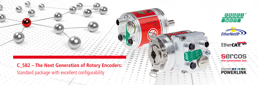 C_582 – The Next Generation of Rotary Encoders: Standard package with excellent configurability
